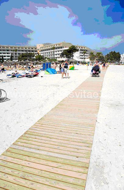 Playas accesibles en alcudia mallorca no verificado for Oficina turismo mallorca