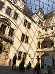 imagen de Patio interior renacentista. Sobre él, la gran cúpula. Residenzschloss Dresden.