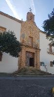 imagen de Fachada principal, acceso a través de escaleras. Hospital de Mineros de Almadén, Ciudad Real.
