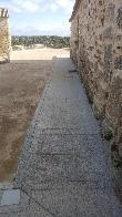imagen de Acera que rodea a la Ermita de Santa María de Melque, San Martín de Montalbán.