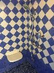 imagen de Interior ducha, con asiento y barra de apoyo. Apartamento accesible El Fresnu, Silvamayor, Asturias.