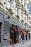imagen de Acceso al Hotel Atlantic, Praga. Imagen de www.hotel-atlantic.cz/es