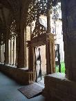 imagen de Acceso al patio del Claustro de Santa María la Real de Nájera.