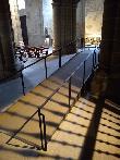 imagen de Una de las rampas para acceder a distintos puntos de la iglesia. Santa María la Real de Nájera.
