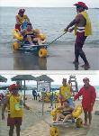 imagen de Servicio de atención del personal de Cruz Roja con sillas anfibias