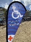 imagen de Indicador de zona de asistencia para PMR. Playa accesible de Las Canteras, Las Palmas de Gran Canaria.