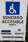 imagen de Cartel indicador de inicio sendero accesible