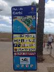 imagen de Cartel con información de Playa Garbi