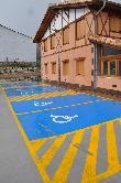 imagen de Parkingo con plazas reservadas a personas con discapacidad.