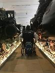 imagen de Exposición de trenes, pasillos con anchura mínima de 100 cm.